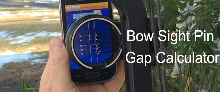 Bow Sight Pin Gap Calculator