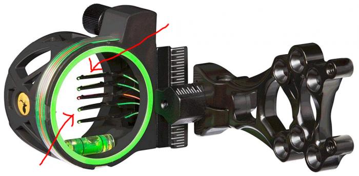 multi-pin bow sights