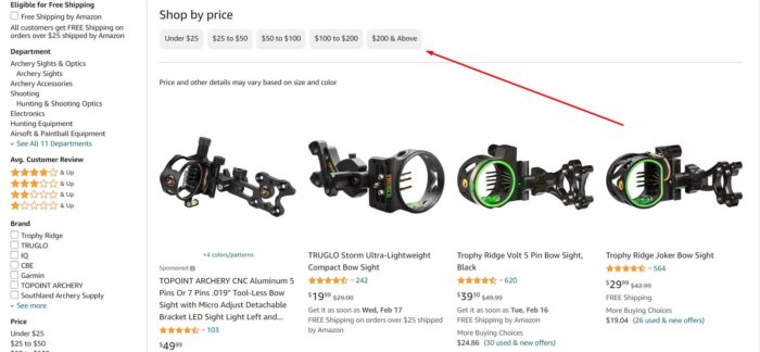 Bow Sight Pricing